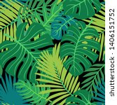 trendy summer tropical leaves... | Shutterstock .eps vector #1406151752