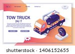 landing page with offer of tow... | Shutterstock .eps vector #1406152655