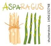 vegetables. asparagus green...   Shutterstock .eps vector #1406152748