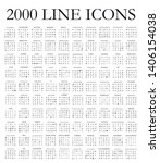 set of 2000 modern thin line...