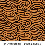 abstract sea pattern. vector... | Shutterstock .eps vector #1406156588