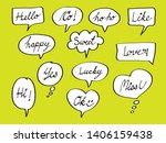 vector bubbles speech doodle... | Shutterstock .eps vector #1406159438