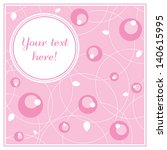 sweet romantic card with...   Shutterstock .eps vector #140615995