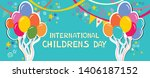 international childrens day.... | Shutterstock .eps vector #1406187152