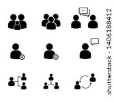 set of people line icons  such...   Shutterstock . vector #1406188412