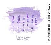 lavender field pattern on...   Shutterstock . vector #1406198132