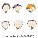 happy kids set | Shutterstock .eps vector #140620996