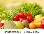 fresh fruits and vegetables ...   Shutterstock . vector #140621452
