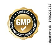 gmp  good manufacturing...   Shutterstock .eps vector #1406225252