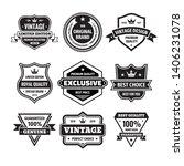 business badges vector set in...   Shutterstock .eps vector #1406231078