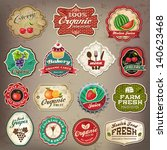 vintage retro grunge restaurant ... | Shutterstock .eps vector #140623468