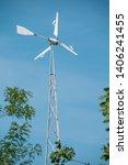 eco power. wind turbines... | Shutterstock . vector #1406241455