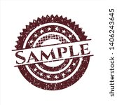 red sample distressed grunge... | Shutterstock .eps vector #1406243645
