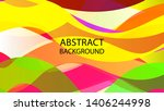 abstract multicolor wave... | Shutterstock .eps vector #1406244998