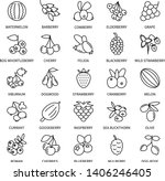 berries linear icons business... | Shutterstock .eps vector #1406246405