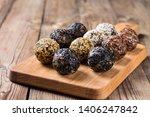 a group of energy balls lying... | Shutterstock . vector #1406247842