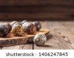 a group of energy balls lying... | Shutterstock . vector #1406247845