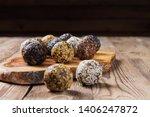 a group of energy balls lying... | Shutterstock . vector #1406247872