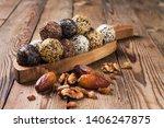 a group of energy balls lying... | Shutterstock . vector #1406247875