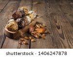 a group of energy balls lying... | Shutterstock . vector #1406247878