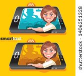 the white girl the passenger...   Shutterstock .eps vector #1406251328