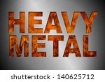 cut out heavy metal and real... | Shutterstock . vector #140625712