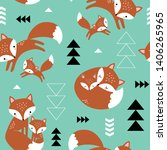 seamless vector pattern with... | Shutterstock .eps vector #1406265965