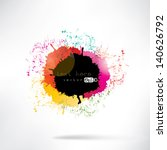 abstract background with splash | Shutterstock .eps vector #140626792