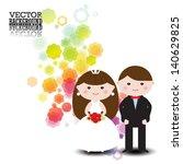 wedding invitation . romantic... | Shutterstock .eps vector #140629825