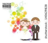wedding invitation . romantic... | Shutterstock .eps vector #140629828