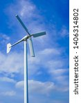 large wind turbines are used to ... | Shutterstock . vector #1406314802