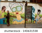 valparaiso   march 03  street... | Shutterstock . vector #140631538