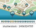traveling vector pin map icon... | Shutterstock .eps vector #1406324705