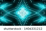 abstract blue led lights stage... | Shutterstock . vector #1406331212