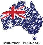 australia map hand drawn sketch.... | Shutterstock .eps vector #1406335538