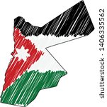 jordan map hand drawn sketch.... | Shutterstock .eps vector #1406335562
