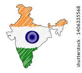 india map hand drawn sketch.... | Shutterstock .eps vector #1406335568