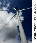 a wind turbine in southern... | Shutterstock . vector #1406339972