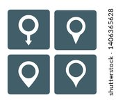 set of map pin vector icon | Shutterstock .eps vector #1406365628