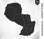 map of paraguay   vector... | Shutterstock .eps vector #1406372282