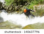 Canyoning Guide Trying Out A...