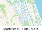 empty vector map of palm coast  ... | Shutterstock .eps vector #1406379515