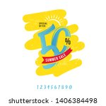summer sale 50  off discount... | Shutterstock .eps vector #1406384498