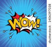 coloured cartoon bubbles speech.... | Shutterstock .eps vector #1406397038