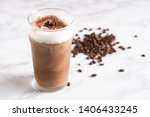 iced cappuccino with coffee bean | Shutterstock . vector #1406433245