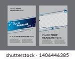 abstract poster design template ... | Shutterstock .eps vector #1406446385