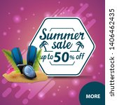 summer sale  square discount... | Shutterstock .eps vector #1406462435