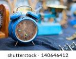 Vintage Blue Alarm Clock At...