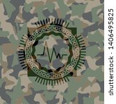electrocardiogram icon inside... | Shutterstock .eps vector #1406495825