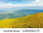 Grassy Slope Of A Hill In...